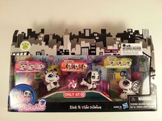 Littlest Pet Shop Black and White Collection 2365 Dog 2364 Butterfly 2363 Tiger #Hasbro