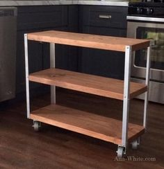 Ana White Build a Easiest Industrial Cart Free and Easy DIY Project and Furniture Plans Diy Furniture Plans, Furniture Projects, Home Projects, Furniture Design, Furniture Stores, Bar Furniture, Metal Projects, Furniture Outlet, Luxury Furniture