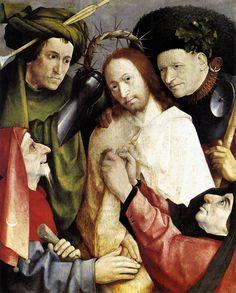 Hieronymus Bosch (1450-1516, Netherlands) | Cristo Deriso (Incoronazione di Spine), ca. 1510 (London, National Gallery)