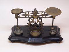 antique Victorian postal letter scales E.O.B. by RetroDecoCorner