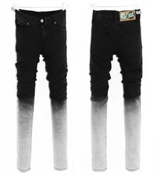 Wholesale Trendy & Comfortable Gradient Small Bottom Long Jeans top dresses