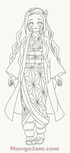 Otaku Anime, Manga Anime, Art Drawings Sketches Simple, Easy Drawings, Anime Lineart, Anime Character Drawing, Drawing Base, Anime Sketch, Slayer Anime