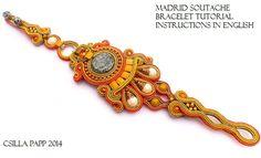 SALE tutorial only Madrid Soutache Bracelet Tutorial от CsillaPapp
