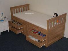 Sleepland Oak Rio Captains Bed With Storage Underneath