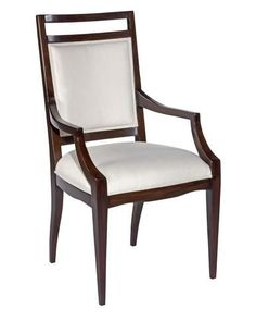 New Dining Arm Chair Addison Ebonized Mahogany Finish Acacia Solid Wood WB-36