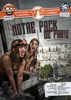 Affiche du double header Lutece destroyeuses : Notre pack de Paris  Affiche par Chloé-bergamotte Merlin-beaufort et Cyril Beaufort