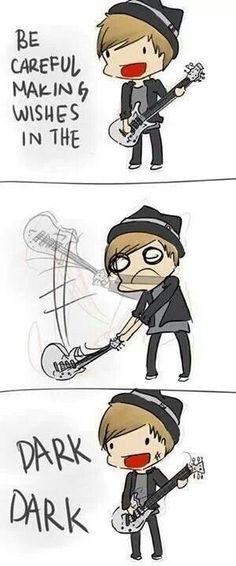 Patrick Stump <3 My Songs Know What You Did in the Dark. This is so cute!