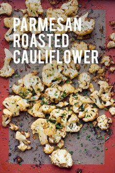 Parmesan Roasted Cauliflower #cauliflower #roastedcauliflower #parmesanroastedcauliflower #delicioussidedish