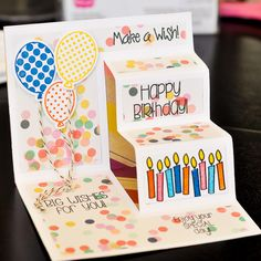 Awesome idea for the inside of a side stair step card! Sizzix Step-Ups Card, Basic - 21 Die Set -