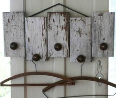 Wood scrap coat racks - 50 Decorative Rustic Storage Projects For a Beautifully Organized Home