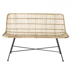 Lovely lounging rattan sofa from Danish brand Bloomingville. The sofa has beautiful round shapes and is very firmly by the strong rattan. Nice to combine w White Wicker Furniture, Wicker Couch, Wicker Headboard, Wicker Shelf, Wicker Tray, Wicker Table, Rattan Sofa, Bench Furniture, Chair Cushions