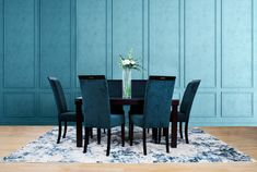 The Urban 6 Seater Dining Set is the picture of class and style. The soft, velvety chairs pair perfectly with the sleek, simple wooden dining table. Furniture Dining Table, Wooden Dining Tables, Dining Set, A Table, Dining Chairs, Lakeside Mall, Galleria Mall, Dark Mahogany, Living Spaces