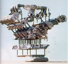928 Engine Exploded
