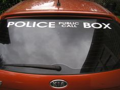 Doctor who car  police public call box vinyl decal vehicle sticker 36 inches