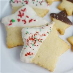 Shortbread Cookies - It's literally impossible to mess this one up. 4 ingredients. Delicious cookies. Tea time!