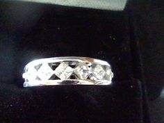 MENS WOMENS PRINCESS PLATINUM & SS LCS DIAMOND ENGAGEMENT RING BAND SZ 8 #EXCEPTIONALBUY #SolitairewithAccents
