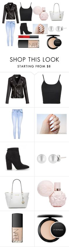 """""""girls night"""" by soph-133 ❤ liked on Polyvore featuring Topshop, Glamorous, Kendall + Kylie, Michael Kors, NARS Cosmetics and MAC Cosmetics"""