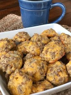 Cheesy Sausage Puffs Recipe | An easy low carb and keto recipe for on the go! They're perfect for breakfast and snacks through out the day. Easy Ketogenic Diet, Atkins and Diabetic Recipe for weight loss... low carb but full of flavor!! Instrupix.com