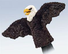 AardvarksToZebras.com - Eagle Stage Puppet from Folkmanis Puppets