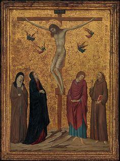 Ugolino da Siena (attivo 1317–1339/49) - Crocifissione - ca. 1315–20 - Tempera su tavola, fondo oro - Metropolitan Museum of Art, New York City