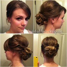 Twisted Low Chignon - Hairstyles How To