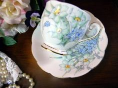 Bell Vintage Teacup Tea Cup and Saucer 8298 by VintageKeepsakes for $14.43 #Zibbet