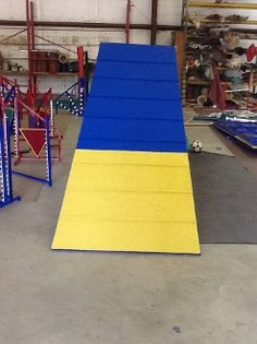The AFrame is the largest piece of agility equipment.  Our AFrame is competition quality at a backyard price. Price  $1,150.00