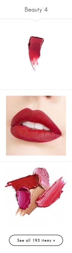 """Beauty 4"" by faeryrain ❤ liked on Polyvore featuring beauty products, makeup, lip makeup, lipstick, beauty, killer kiss, estee lauder lipstick, estée lauder, lips and long wear lipstick"