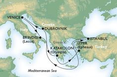 Cruzeiro - mediterrâneo -