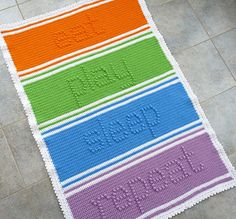 Eat - Play - Sleep - Repeat Baby Blanket by Doni Speigle