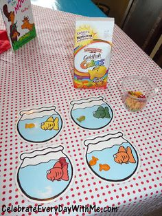 """One Fish, Two Fish...""  Sort Goldfish crackers by colors!"