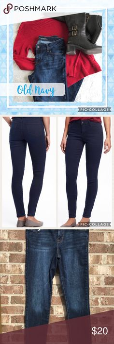 """✅NEW ITEM✅ Old Navy Rock Star Skinny Jeans Old Navy. Rock Star skinny jeans. Mid rise. Size 4 Long. EUC—never worn but washed twice. Measurements: waist is 14.5"""" and inseam is 30.5"""". Imperfections—I bought the jeans with these two irregularities in the material (see last pic). Old Navy Jeans Skinny"""