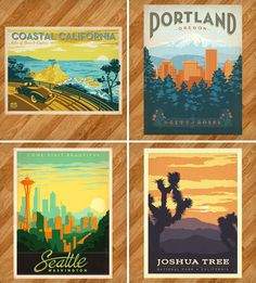 Vintage Travel Prints | 15 Geographical Gift Ideas