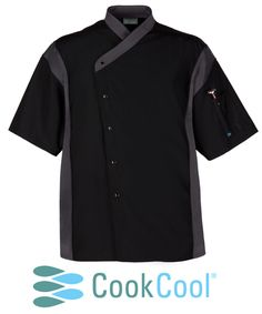 Introducing the Sport Chef Coat, the newest addition to our CookCool culinary apparel line. With a European crossover collar and an easy-open snap front, it's simpler than ever to look sharp and stay fresh all day. Happy Chef Uniforms, Bartender Uniform, Chefs, Restaurant Uniforms, Work Uniforms, Filipina, Restaurant Menu Design, New Details, Chef Jackets