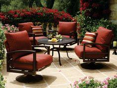 Tropitone Lakeside Swivel Cushion Lounge Set   LKCDS2