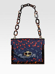Tory Burch Printed Canvas Small Shoulder Bag