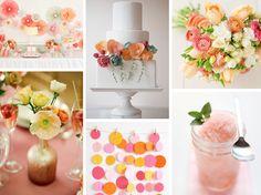 Sorbete de colores de la boda