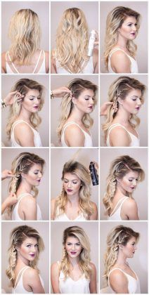 60 Easy Step by Step Hair Tutorials for Long, Medium,Short Hair – Hair Styles Medium Short Hair, Medium Hair Styles, Curly Hair Styles, Haircut Medium, Casual Updos For Medium Hair, Side Braid Tutorial, Hair Lengths, Hair Trends, Hair Inspiration
