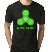 Green Live Long And Fidget Tri-blend T-Shirt