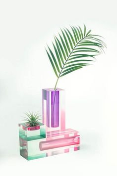 Hattern, Mellow collection | salone del mobile 2017 | salone satellite 2017 | milan design week 2017 | milan design fair | news milan 2017 | colorful design | colorful glass | colorful vases | transparent vase | translucent vase | glass object | glass design objects | colorful objects | transparent furniture | rainbow colors | rainbow chair | rossana orlandi gallery
