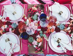 10 beautiful and stylish place settings for summer dinner parties, brunches, special occasions, lunches and outdoor picnics.