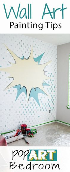 Great tips and tricks to make creating murals and wall art easier!
