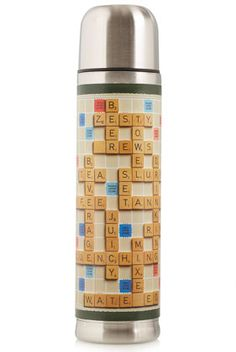 Gift for a Guy - Scrabble Flask Scrabble Tiles, Word Nerd, Game Room Decor, Family Game Night, Topshop Outfit, Geek Stuff, Fun Stuff, Flask, Accessories