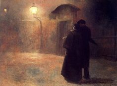 Jakub Schikaneder, Couple in the Night. on ArtStack #jakub-schikaneder #art