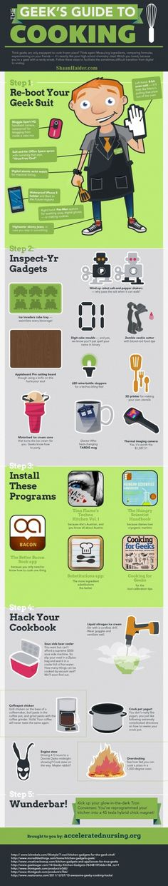 #Geek's #Guide to #Cooking  #Infographic