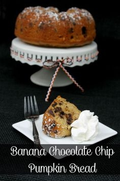One of my favorite fall recipes is my Banana Chocolate Chip Pumpkin Bread recipe. It is super moist and has 3 of my favorite flavors in the world!