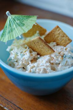 yummy Hawaiian dip 1 8oz package of cream cheese  1 cup shredded cheddar cheese  3 tablespoons crushed pineapple DO NOT DRAIN THE JUICE!  1/2 green bell pepper, diced  1/4 cup chopped green onion  1/2 teaspoon Lawrey's seasoned salt  Blend all of the ingredients well, chill, and then serve