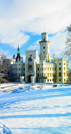 Hluboka nad Vltavou chateau, Czech Republic | The 20 Most Stunning Fairytale Castles in Winter