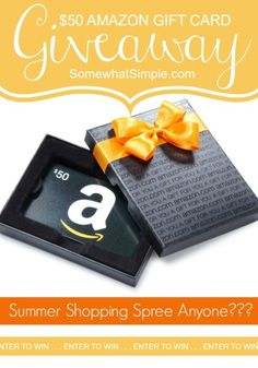 Enter to win a $50 Amazon gift card! Click the image to be taken to SomewhatSimple.com.  with the details.