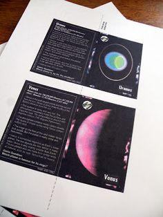Solar System Trading Cards - Pics about space